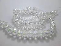 Бусины хрусталь (чешское стекло) 70 шт ширина 8 мм