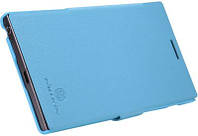 Чехол книжка Nillkin Lenovo K900 Fresh Series Leather Case (BLUE), фото 1
