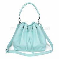 Женская кожаная сумка Katerina Fox нежно-голубого цвета из натуральной кожи (KF-531)