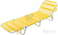 Раскладушка лежак желтая тканевая