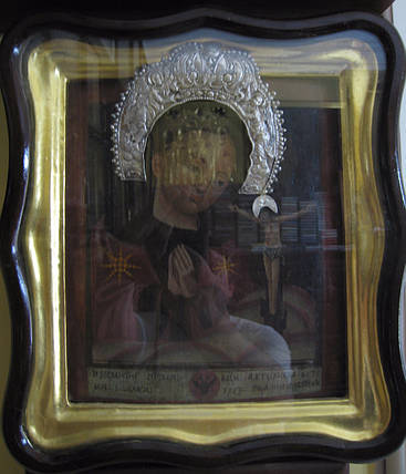 Козацкая икона Ахтырской Богоматери   18 век, фото 2