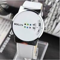 Женские белые, черные, розовые кварцевые часы Bolun