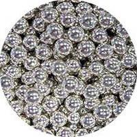 Шарики декоративные,серебро d 1-2мм. 10г/уп, фото 1