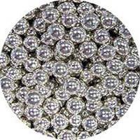 Шарики декоративные,серебро в 2-3 мм 10г./уп