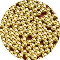 Шарики декоративные,золото 4мм 10г/уп, фото 1