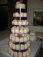 Подставка под торт и пирожные металлическая 5-ти ярусная