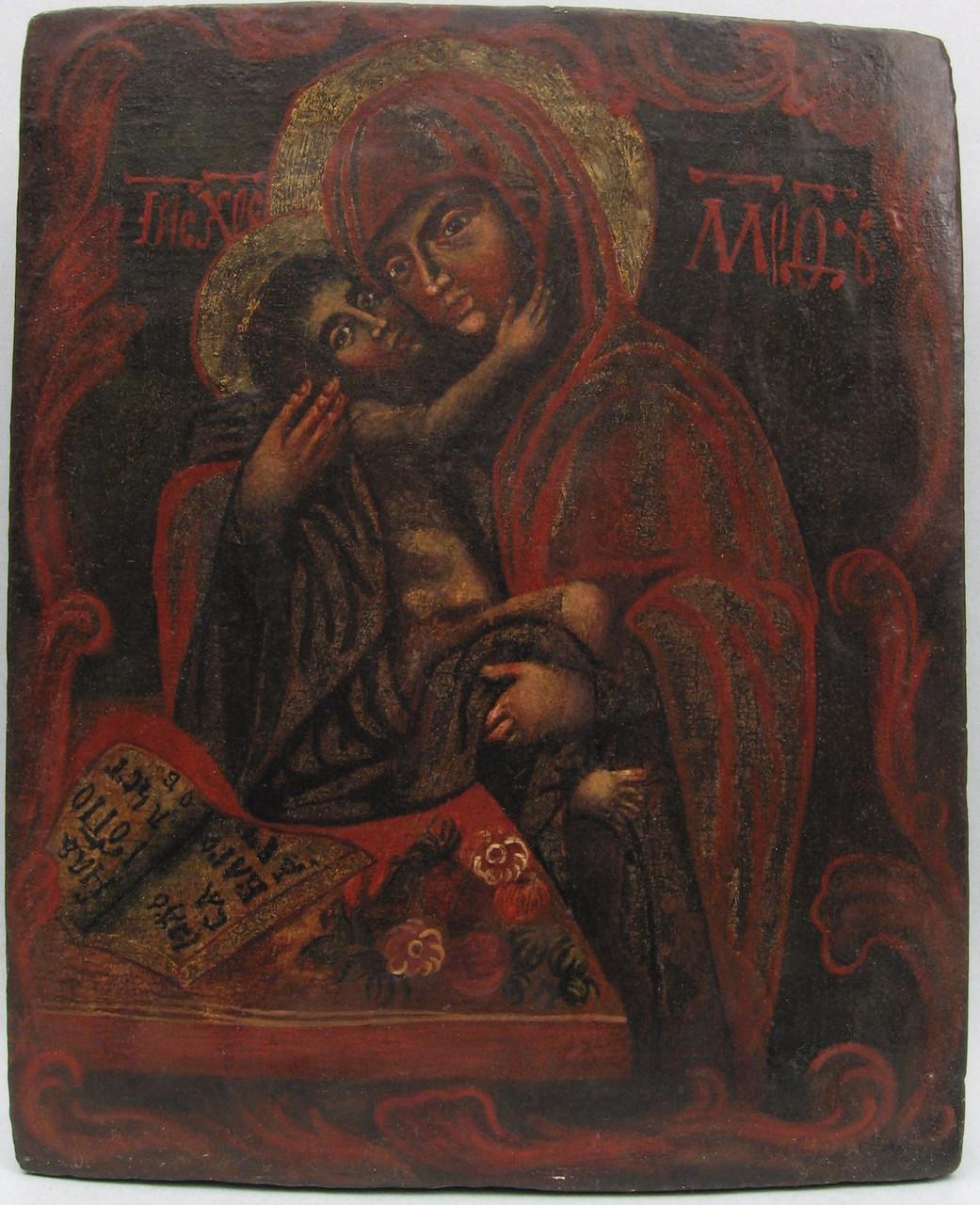 Икона Богородицы Умиление   18 век