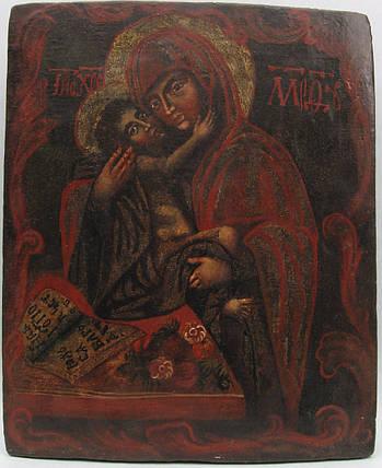 Икона Богородицы Умиление   18 век, фото 2