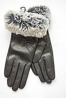 Женские кожаные перчатки с мехом МАЛЕНЬКИЕ