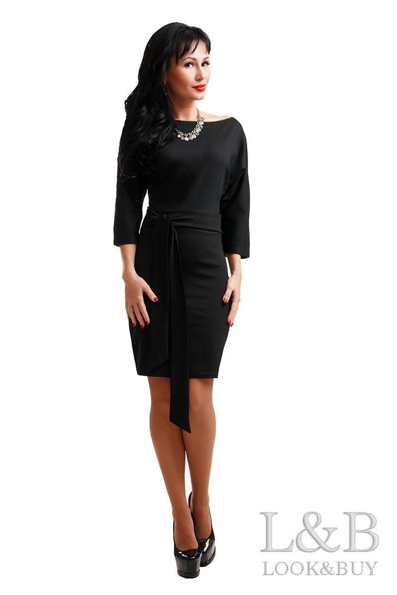 Черное классическое платье DOLCE большого размера