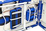 Массажный стол BodyFit XL 2 сегментный,  алюминиевый, синий, фото 4