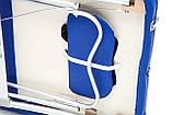 Массажный стол BodyFit XL 2 сегментный,  алюминиевый, синий, фото 5
