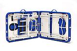 Массажный стол BodyFit XL 2 сегментный,  алюминиевый, синий, фото 6