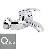 Смеситель для ванны короткий нос Qtap Mars NEW Euro (Chr-009)