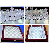 Шахматы стеклянные размер: 22 х 22 см. JB-014