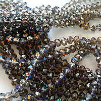 8мм рондели black_diamond AB 70-75шт/низке