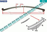 Рессора задняя метал ( коренной лист ) 67285001 Iveco DAILY II 1989-1999, Iveco DAILY III 1999-2006