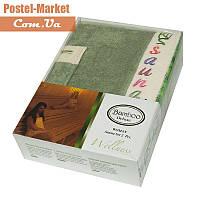 Женский набор в сауну Gursan Bamboo оливковый