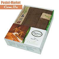 Мужской набор в сауну Gursan Bamboo коричневый