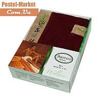 Мужской набор в сауну Gursan Bamboo бордовый