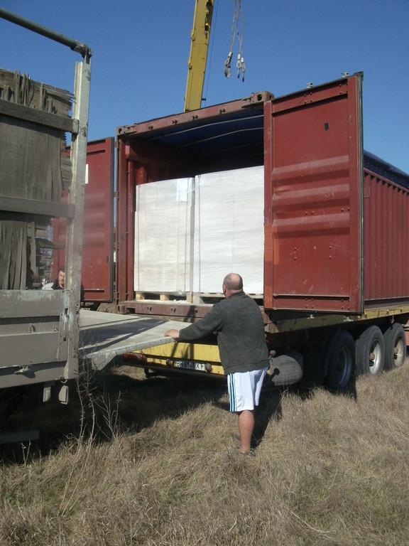 Газобетон на контейнеровозе