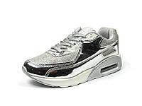Детская спортивная обувь кроссовки Clibee:K-152 Серебро,р.32(20 см)