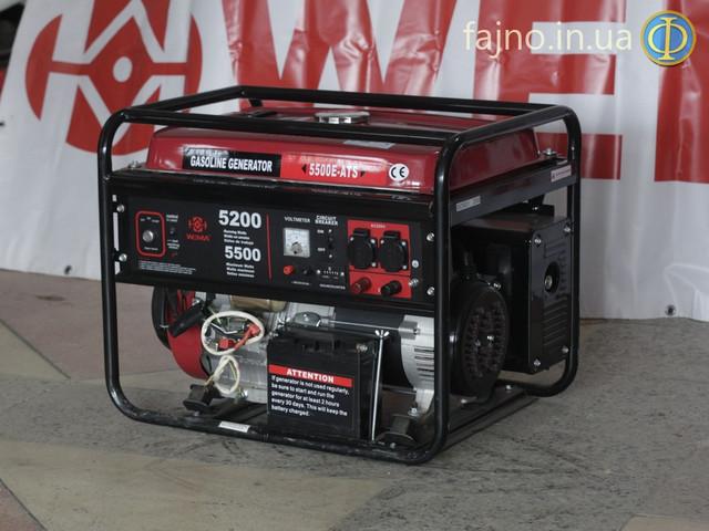 Генератор Weima WM-5500E-ATS с системой автозапуска фото 1