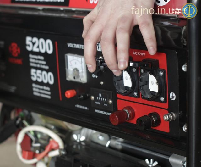 Генератор Weima WM-5500E-ATS с системой автозапуска фото 6