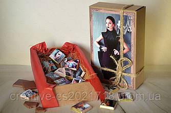 "Шоколадный набор ""60 фото"" крафт"