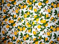 Скатерть хлопковая Лимонная фантазия прямоугольник