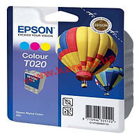 Картридж Epson StColor 880 color 300 стр@5% (A4)-CMY для Stylus Color 880 (C13T02040110)