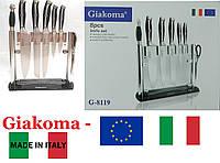 """Ножи кухонные набор 8 шт. на подставке. Настольная подставка. Производство ножей - Италия, """"Giakoma"""" G-8119."""