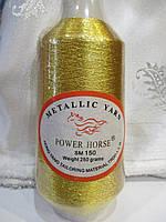 Нитки люрексова золото для машинної вишивка 250 грам, фото 1