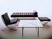 Кофейный стол Barcelona / Барселона прозрачное стекло 12мм, 102*102*46 см, дизайнерский столик