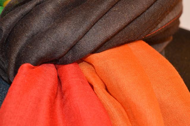 Шарф Соня оранжево-красный 3