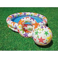 """Детский надувной бассейн Intex 59460 с надувным кругом и мячом """"Шарики"""" 122*25см,"""