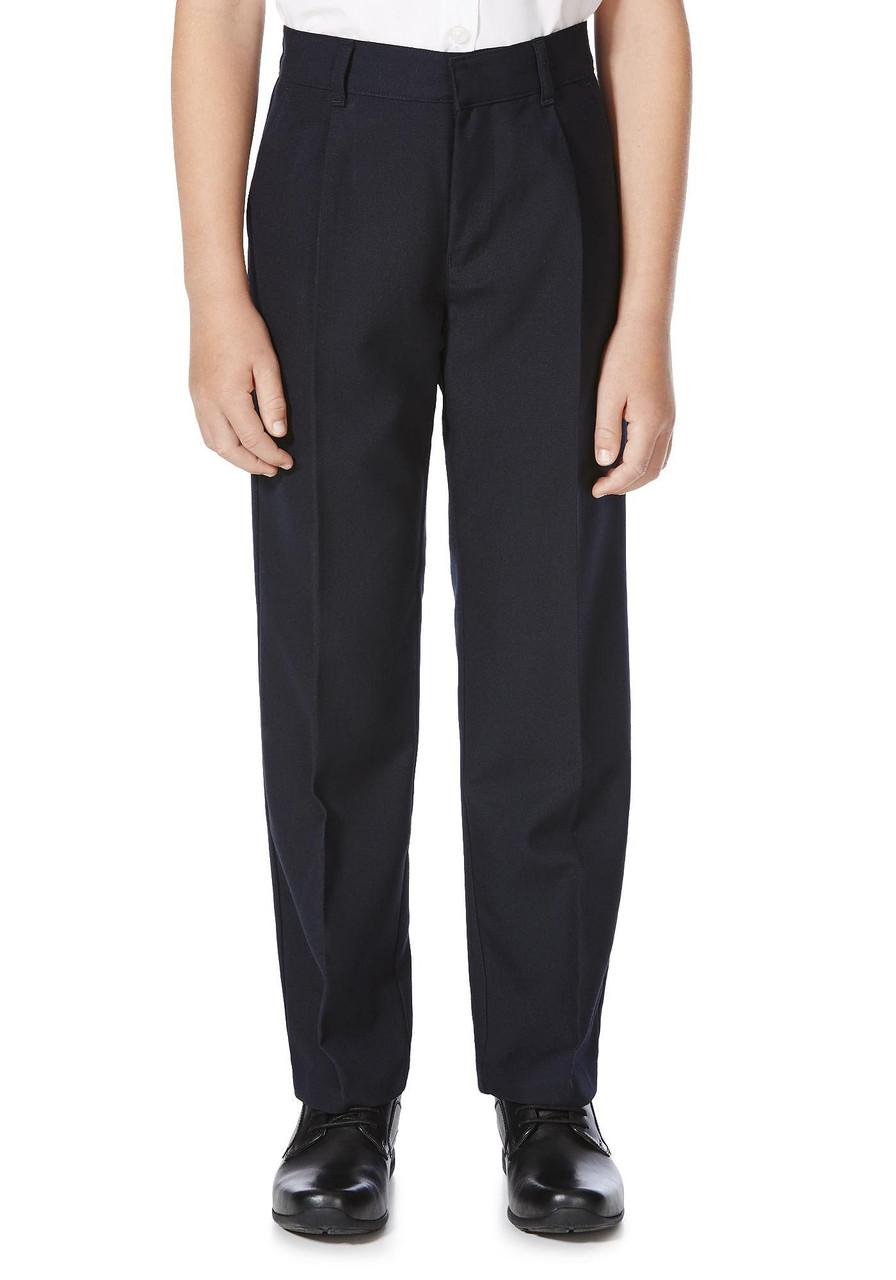 Школьные брюки темно-синие для мальчиков 6-7-8-9-10 лет Pleat Front F&F (Англия)