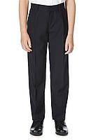 Школьные брюки темно-синие для мальчиков 6-7-8-9-10 лет Pleat Front F&F (Англия), фото 1