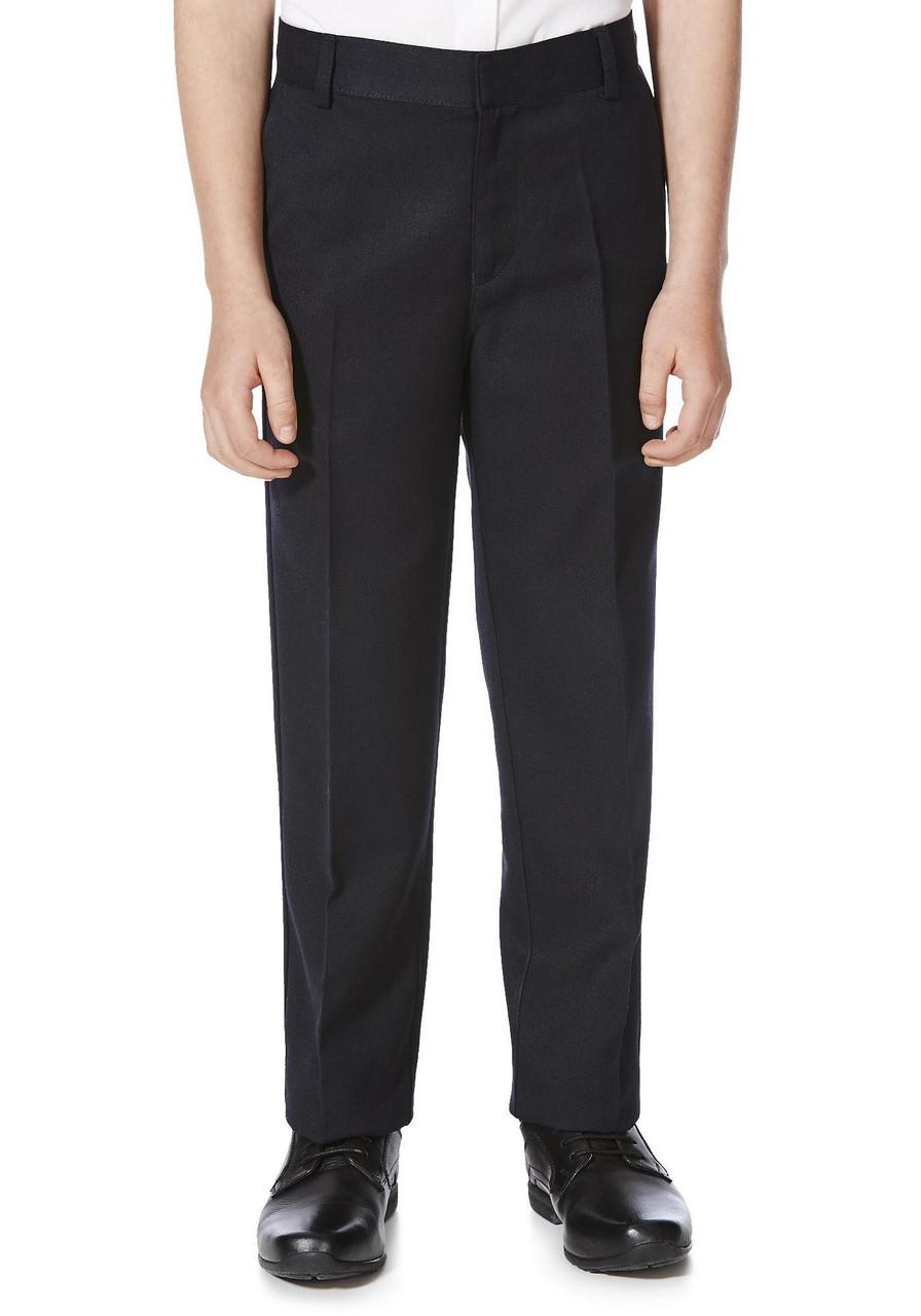 Школьные брюки темно-синие для мальчиков 10-11-12-13 лет Flat Front F&F (Англия)