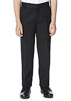 Школьные брюки темно-синие для мальчиков 10-11-12-13 лет Flat Front F&F (Англия), фото 1