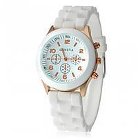 Часы женские Geneva белый реплика, фото 1