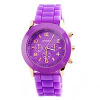 Часы женские Geneva фиолетовый реплика, фото 1