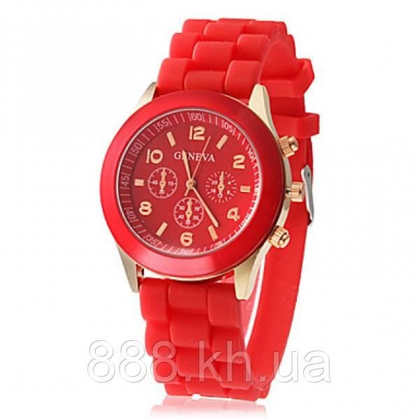 Часы женские Geneva красный реплика