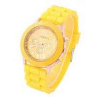 Часы женские Geneva желтый реплика