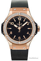 Женские часы Hublot Big Bang Gold Diamonds 002 реплика, фото 1