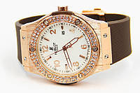 Женские часы Hublot Big Bang Gold Diamonds 003 реплика