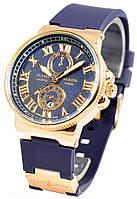 Часы женские Ulysse Nardin, женские часы Улис Нардин синий реплика, фото 1
