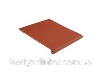 Клинкерная ступень King Klinker (01)  Античная гладкая/рифленая 330х245х16