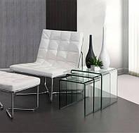 Журнальный столик / журнальный столик стеклянный модель Приам / Вулкано Б1 - 1секция 45*60*50 см