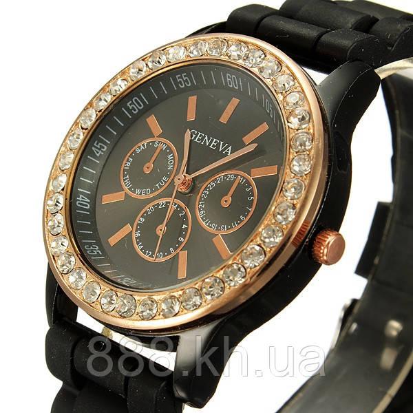 Часы женские Geneva Crysta черный реплика